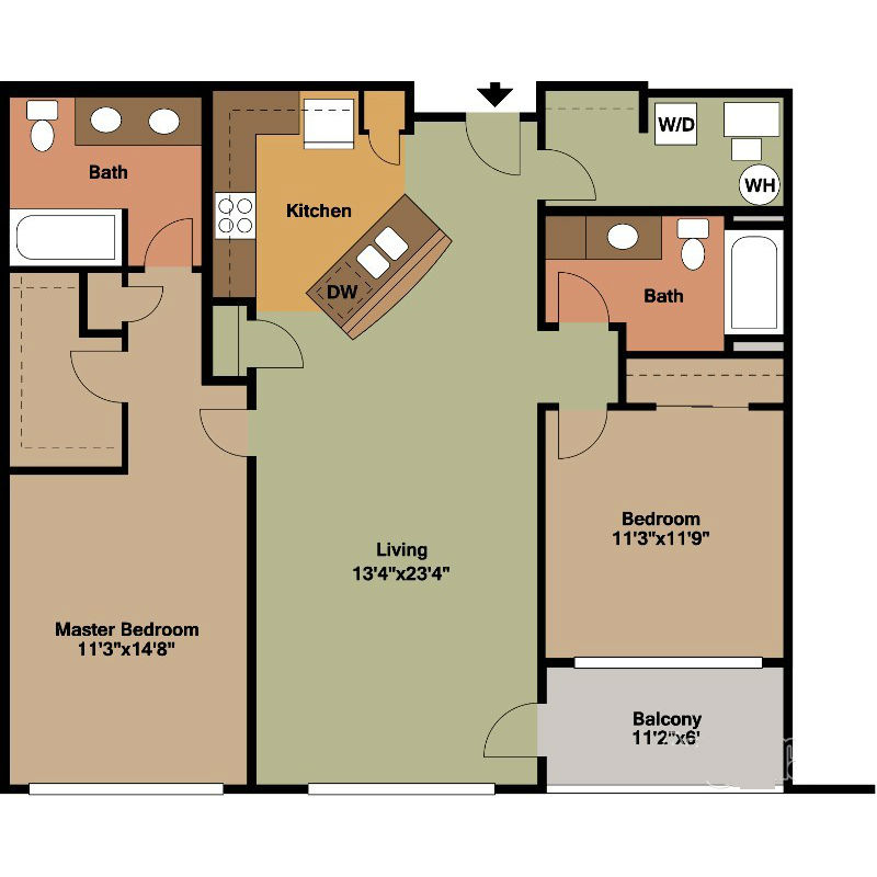 bedroom floor plan floor plan style a2 jackson square 10667